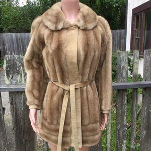 Adolph Schuman Lilli Ann Faux Fur & Suede Coat